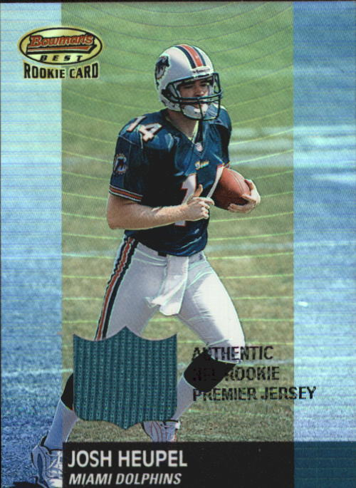 2001 Bowman's Best #104 Chris Weinke JSY RC