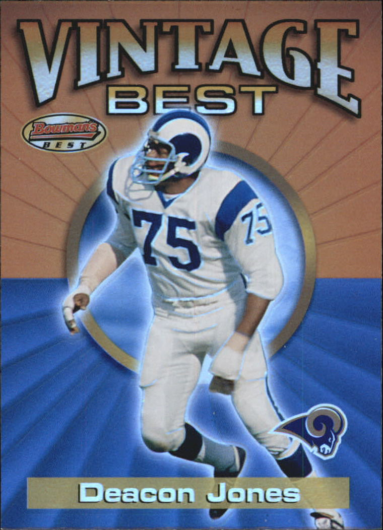2001 Bowman's Best Vintage Best #VBDJ Deacon Jones