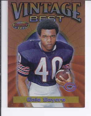 2001 Bowman's Best Vintage Best #VBGS Gale Sayers