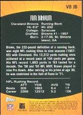 2001 Bowman's Best Vintage Best #VBJB Jim Brown back image