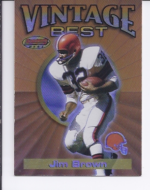 2001 Bowman's Best Vintage Best #VBJB Jim Brown