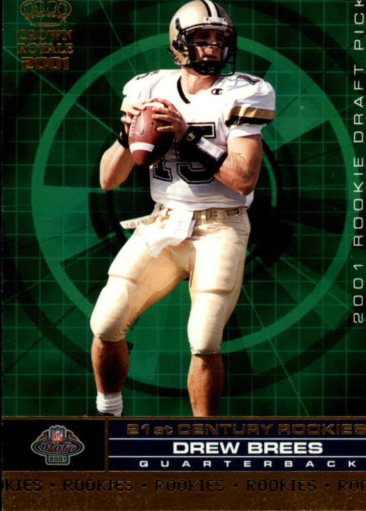 2001 Crown Royale 21st Century Rookies #4 Drew Brees