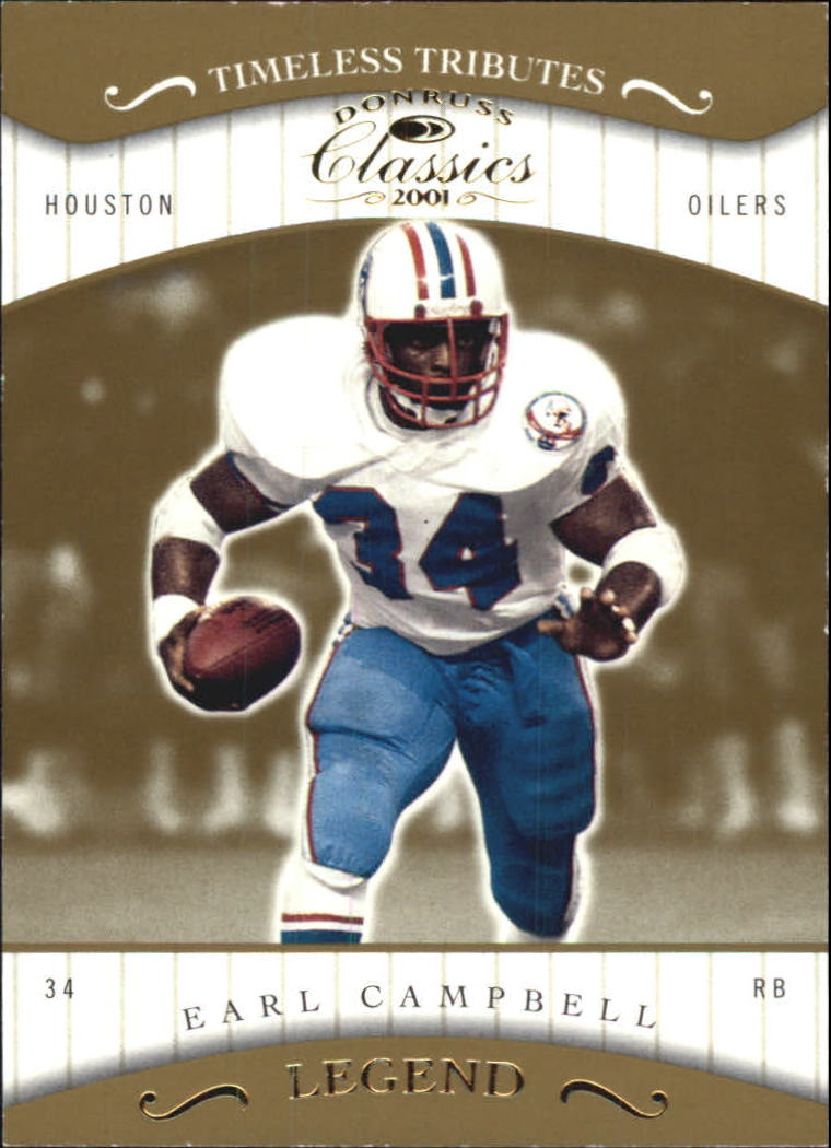 2001 Donruss Classics Timeless Tributes #170 Earl Campbell