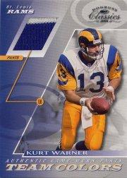 2001 Donruss Classics Team Colors #TC9 Kurt Warner Pants