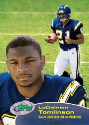 2001 eTopps #143 LaDainian Tomlinson/1536