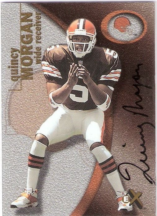 2001 E-X Rookie Autographs #119 Quincy Morgan/125*