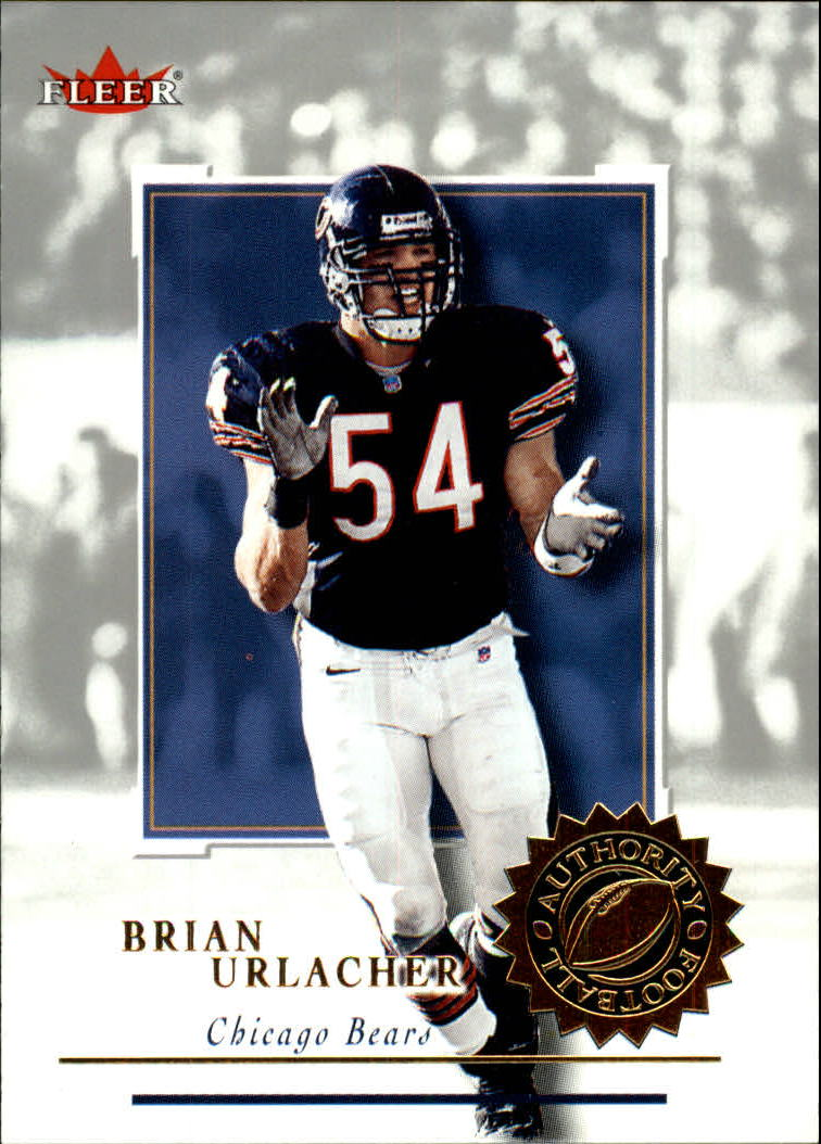 2001 Fleer Authority #1 Brian Urlacher