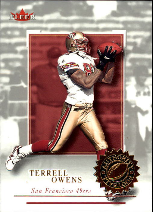 2001 Fleer Authority #43 Terrell Owens