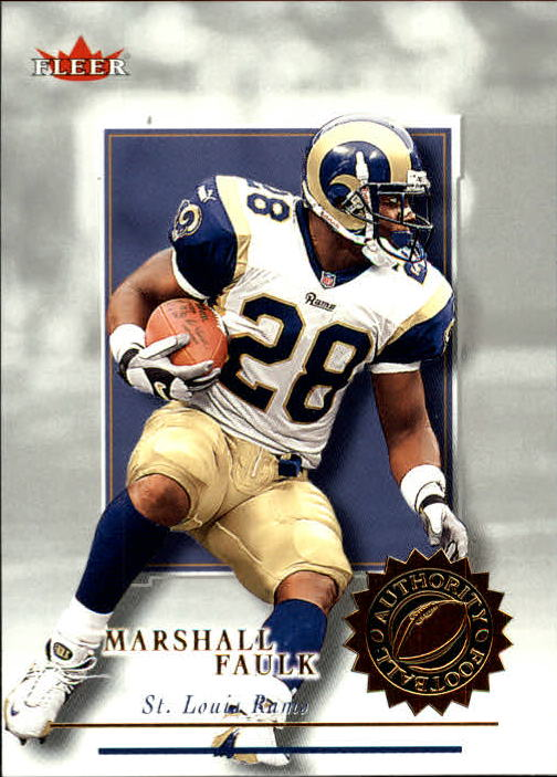 2001 Fleer Authority #62 Marshall Faulk