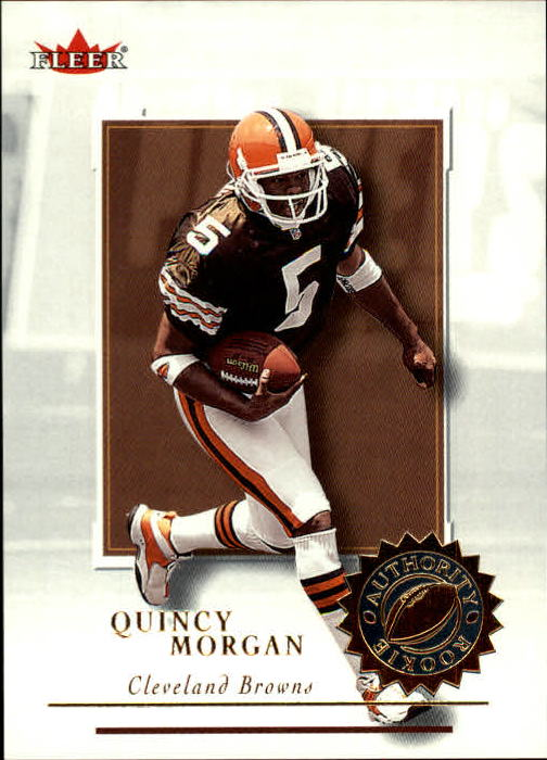 2001 Fleer Authority #136 Quincy Morgan RC