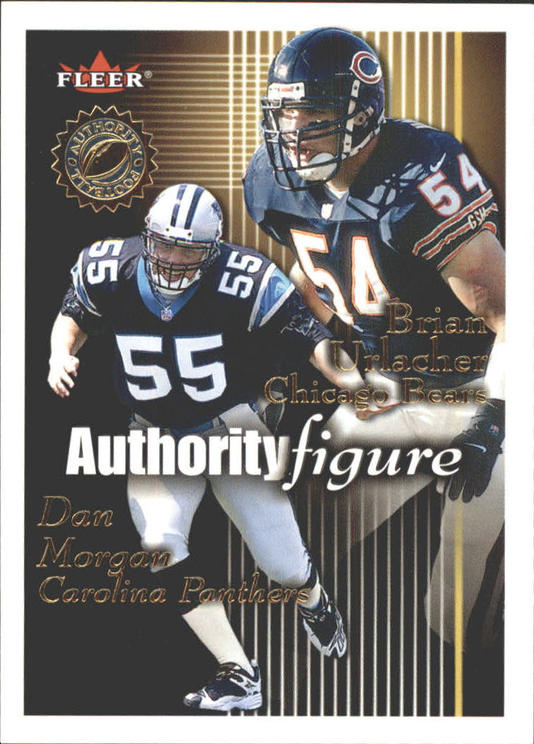 2001 Fleer Authority Figure #8 Dan Morgan/Brian Urlacher