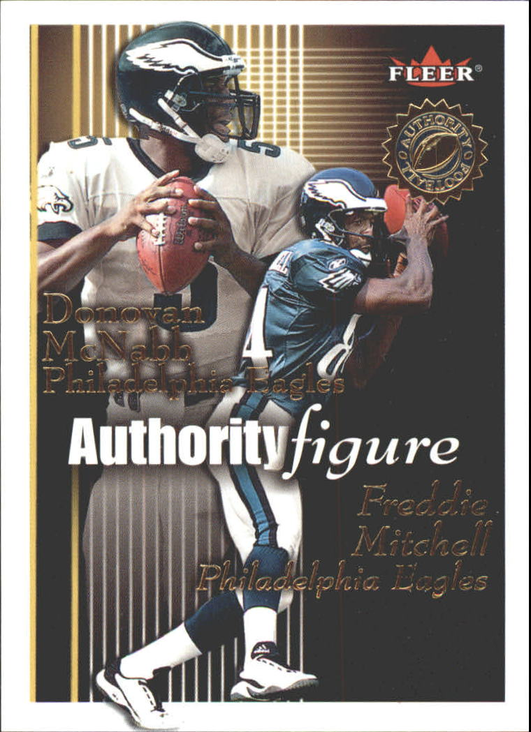 2001 Fleer Authority Figure #12 Quincy Morgan/Tim Couch