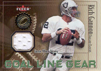 2001 Fleer Authority Goal Line Gear #14 Rich Gannon JSY/800