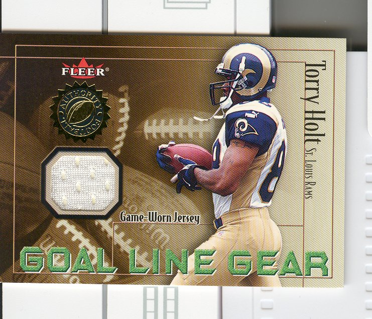 2001 Fleer Authority Goal Line Gear #20 Torry Holt JSY/800