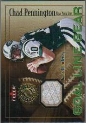 2001 Fleer Authority Goal Line Gear #39 Chad Pennington JSY/800