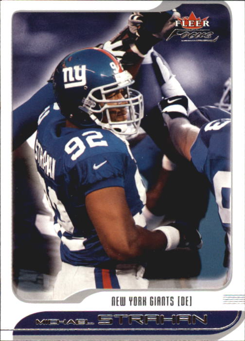 2001 Fleer Focus #9 Michael Strahan