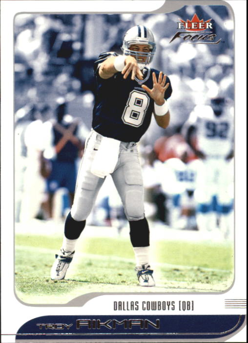 2001 Fleer Focus #71 Troy Aikman