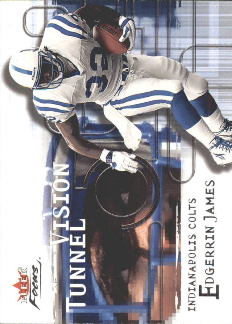 2001 Fleer Focus Tunnel Vision #8 Edgerrin James