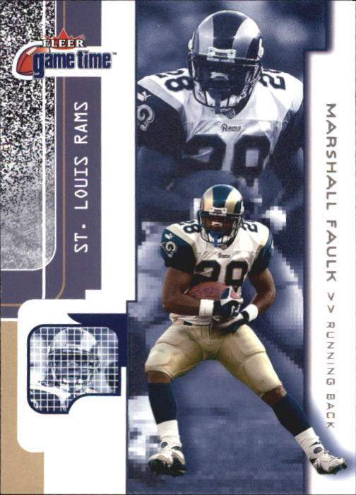 2001 Fleer Game Time #14 Marshall Faulk
