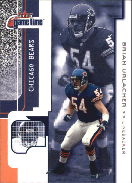 2001 Fleer Game Time #64 Brian Urlacher front image