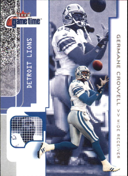 2001 Fleer Game Time #65 Germane Crowell