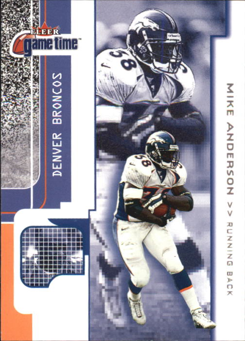 2001 Fleer Game Time #72 Mike Anderson