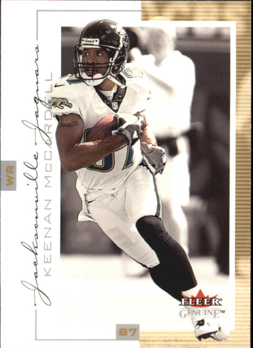 2001 Fleer Genuine #18 Keenan McCardell