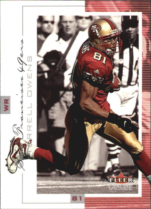 2001 Fleer Genuine #42 Terrell Owens