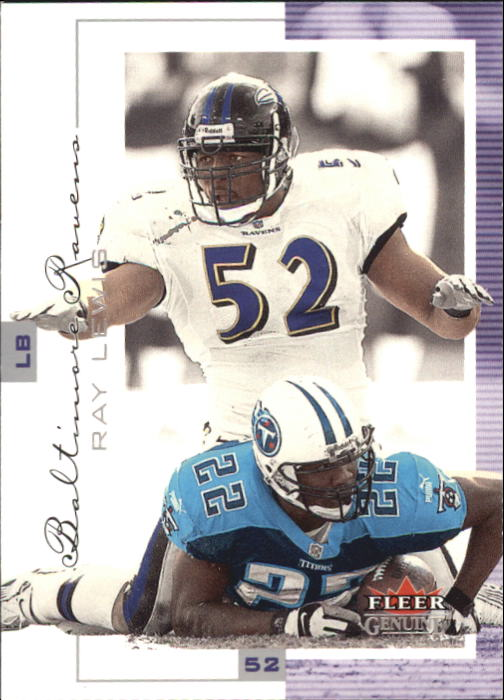2001 Fleer Genuine #43 Ray Lewis