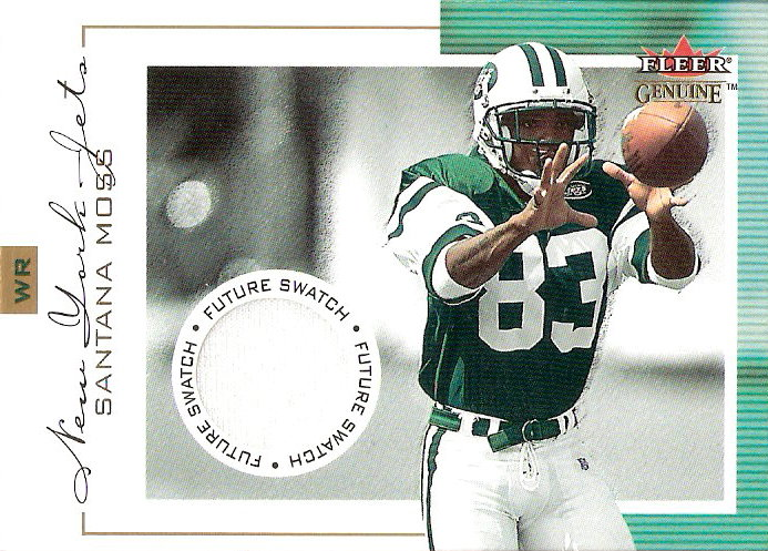 2001 Fleer Genuine #132 Santana Moss JSY RC