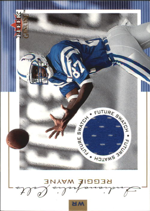 2001 Fleer Genuine #133 Reggie Wayne JSY RC