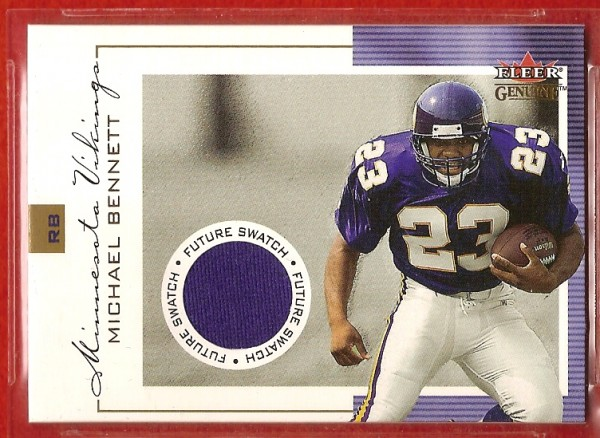 2001 Fleer Genuine #138 Michael Bennett JSY RC
