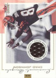 2001 Fleer Genuine #144 Chad Johnson JSY RC