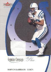 2001 Fleer Genuine Coverage Plus Jerseys #5 Marvin Harrison