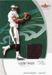 2001 Fleer Genuine Coverage Plus Jerseys #22 Duce Staley