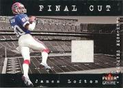 2001 Fleer Genuine Final Cut Jerseys #15 James Lofton