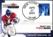 2001 Hot Prospects Draft Day Postmarks #17 LaDainian Tomlinson/1775