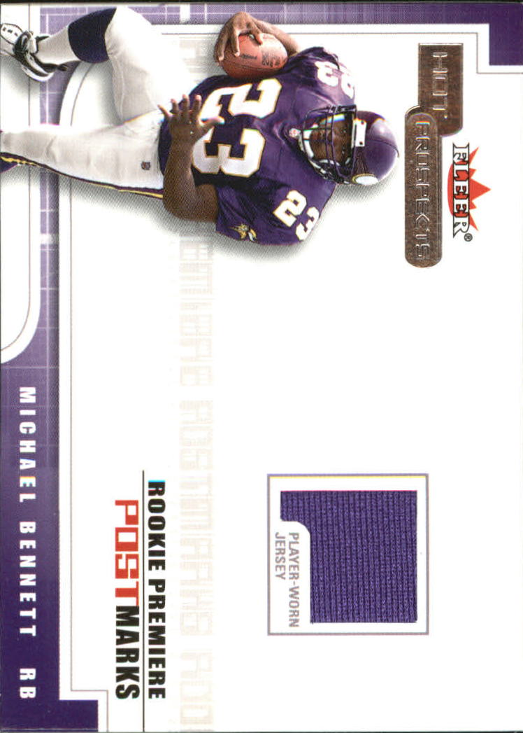 2001 Hot Prospects Rookie Premiere Postmarks Jerseys #2 Michael Bennett