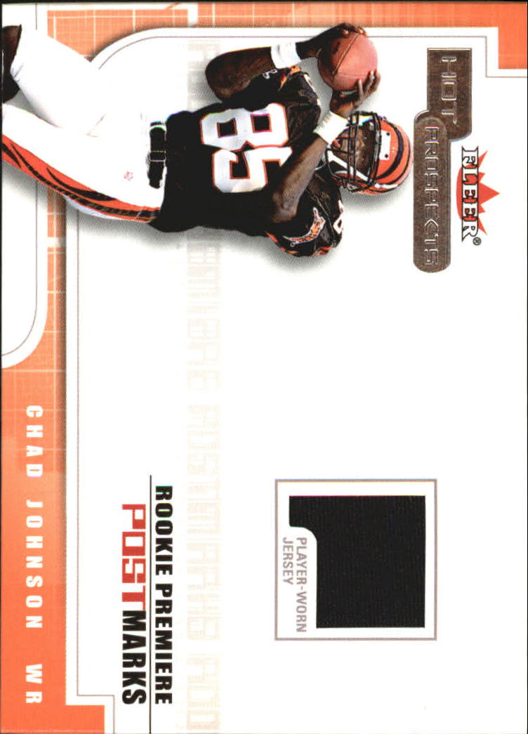 2001 Hot Prospects Rookie Premiere Postmarks Jerseys #13 Chad Johnson