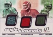 2001 Fleer Legacy Triple Threads #CMF Chris Chambers/Snoop Minnis/Robert Ferguson