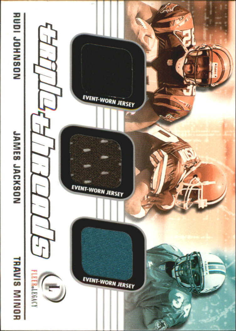 2001 Fleer Legacy Triple Threads #JJM Rudi Johnson/James Jackson/Travis Minor