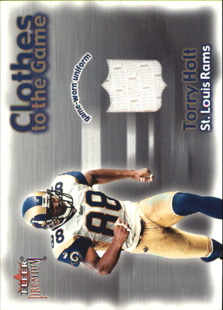 2001 Fleer Premium Clothes to the Game #10 Torry Holt