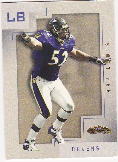 2001 Fleer Showcase #23 Ray Lewis