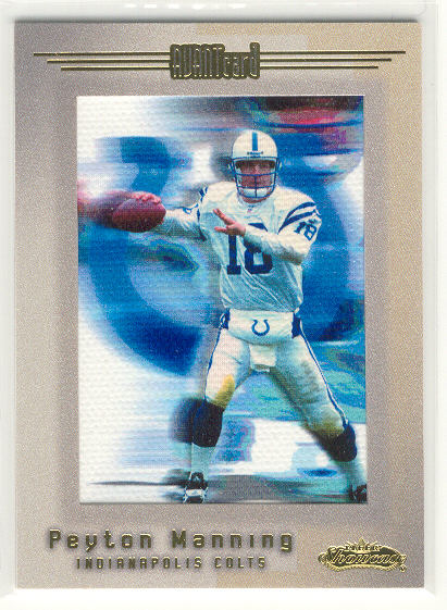 2001 Fleer Showcase #105 Peyton Manning AC