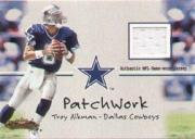 2001 Fleer Showcase Patchwork #1 Troy Aikman
