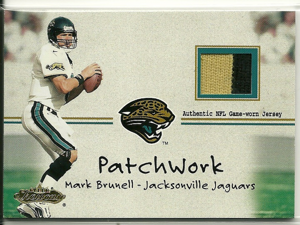 2001 Fleer Showcase Patchwork #5 Mark Brunell