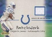 2001 Fleer Showcase Patchwork #12 Edgerrin James