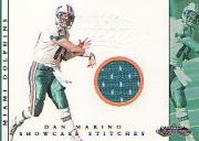 2001 Fleer Showcase Stitches #8 Dan Marino