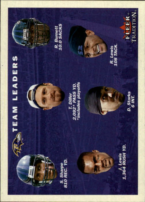 2001 Fleer Tradition #375 Baltimore Ravens TL