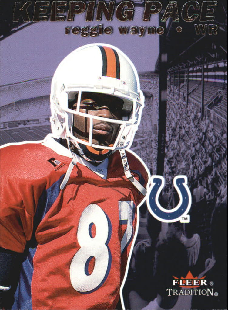 2001 Fleer Tradition Keeping Pace #9 Reggie Wayne